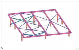 Engineered Aluminum solar panel support frame