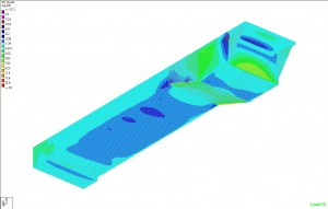 Finite element analysis of a concrete swimming pool