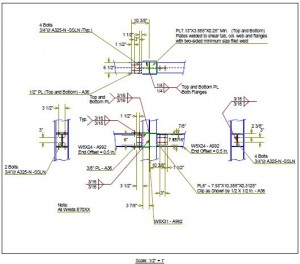 Engineering design of steel moment connection