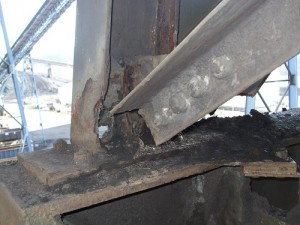 Rusted Column Before Repair